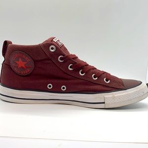 Unisex Converse canvas Mid top slip ons with laces